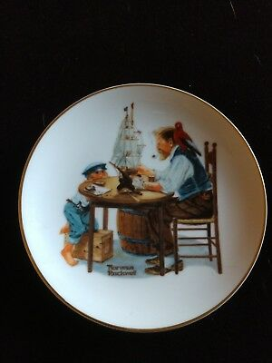 "For A Good Boy By Norman Rockwell 6.5"" Plate 1984. Decorative Use."