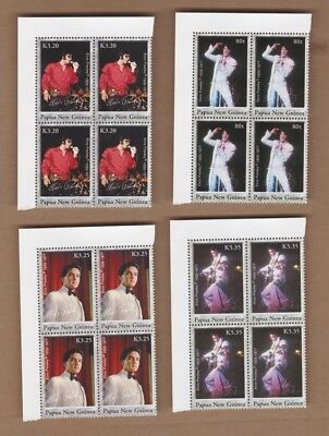 2006 Papua New Guinea, Elvis Presley, SG 1146/49, Set 4 Block 4, MUH