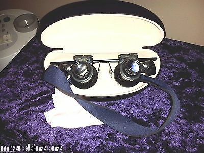 Scrimshaw Inspectacles Set,DeskCase HighMag.&Bright Light,420specs n r Kit nib
