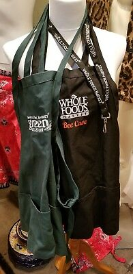 LOT of ex-employee Whole foods Market Aprons and Lanyard Buttons
