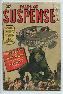 1962 Tales Of Suspense #31 Stan Lee Story, Kirby-Ditko Art Gd Cover Detached S5
