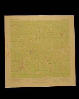 Fort Polk Louisiana vintage 1975 original USGS Topographical chart