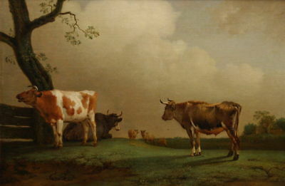 """stunning oil painting handpainted on canvas """"cattle a Landscape""""@N14645"""