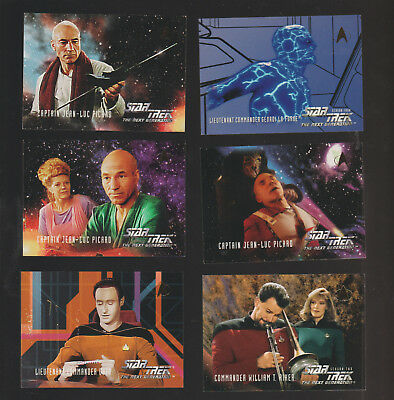 Lot of 6 Star Trek Next Generation trading cards Published by Skybox 1994