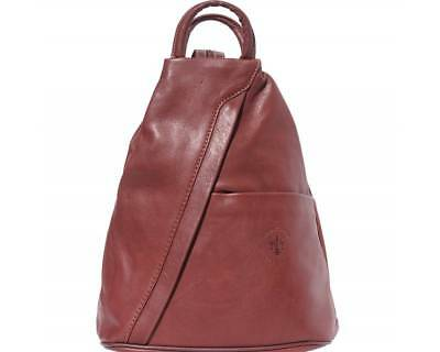 7fad8ee465 Nwt  Backpack Bag Italian Genuine Leather  Florence Logo Embossed  Made In  Italy