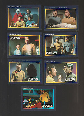 Lot of 7 Star Trek trading cards Published by Impel 1991