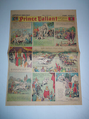 1938 FULL SIZE Sunday Comic Page PRINCE VALIANT by HAL FOSTER # 87 GREAT JOUST