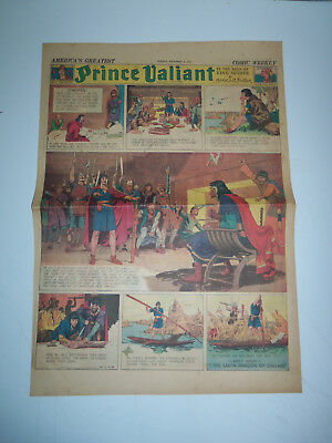 1938 FULL SIZE Sunday Comic Page PRINCE VALIANT by HAL FOSTER # 95 GIANT PANEL