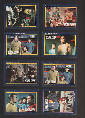 Lot of 8 Star Trek trading cards Published by Impel 1991