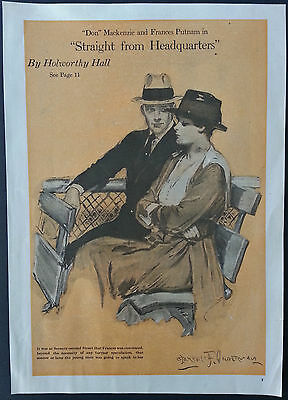 Clarence Underwood Art For Straight From Headquarters by Holworthy Hall 1917
