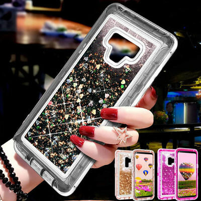 Bling Glitter Liquid Hybrid Armor Case Cover For Samsung Galaxy Note 9 8 S10Plus