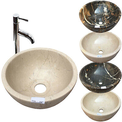 "Marble Basin Onyx Bathroom Countertop Vessel Sink Bowl Stone 16"" X 6"""