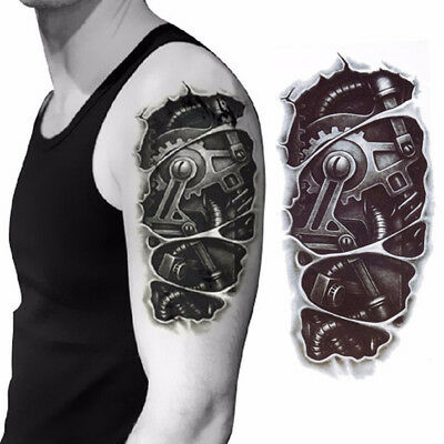 Waterproof Robot Arm Temporary Tattoo Stickers Body Art Removable 3D Tatoo BS