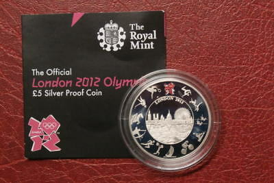 Solid Silver Official Olympic £5 ,2012, Olympic Games, Five Pounds (4)