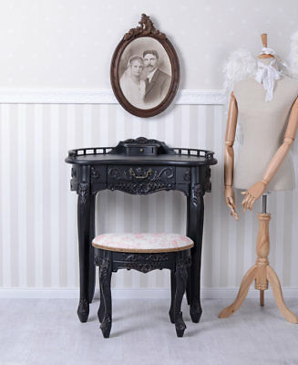 Make-Up Table Stool Dressing Baroque Cosmetic Wall Side Console Antique