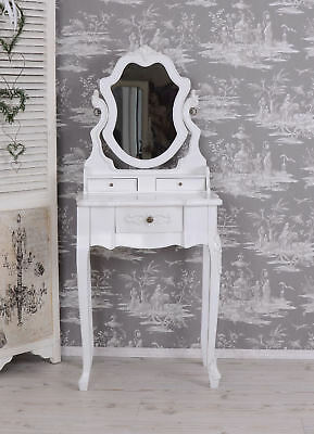 Vintage Coiffeuse Blanc Vanité Commode Toilettes Shabby Chic Table de Toilette