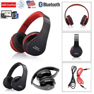 Foldable Wireless Bluetooth Headphones Stereo Earphone Super Bass Headset Mic US