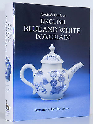 ENGLISH BLUE AND WHITE PORCELAIN Godden's Guide Marks Makes China ACC New HC DJ