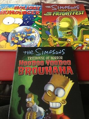 The Simpsons X 3 Large Comic Books