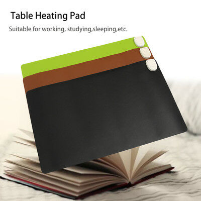 24V Electric Heating Pad Temperature Contro Leather Warm Table Place Mouse Mat