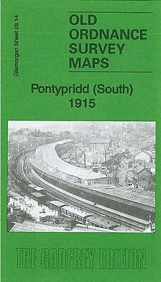 Old Ordnance Survey Map Pontypridd South 1915