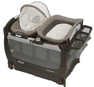 Graco Baby Pack 'n Play Playard Snuggle Suite LX Bassinet Abbington NEW