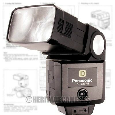 Powerful Bounce Swivel Zoom Thyristor Auto or Manual Flash, Hot Shoe Low Voltage