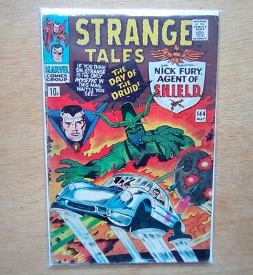Strange Tales #144 Marvel Comics May 1966 Shield Dr, Strange Vg Cond Jack Kirby