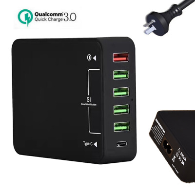 Multi Port USB Charger Rapid Charging Station Desktop Travel Hub iPhone MacBook