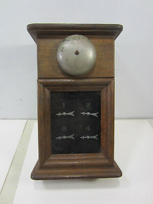 Antique Oak Servants Calling Box for 4 Rooms