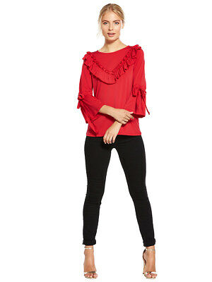 V by Very Ruffle Tie Sleeve Top