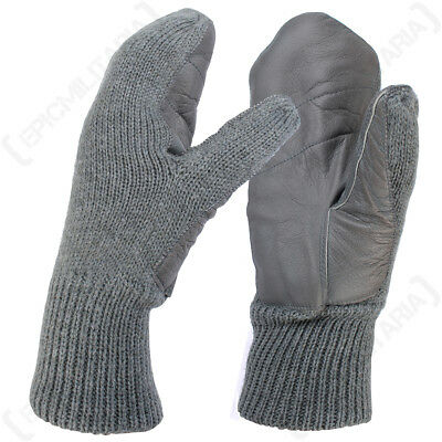 Swiss Wool Mittens - Winter Mittens Fleece Lined Military Surplus Army Over