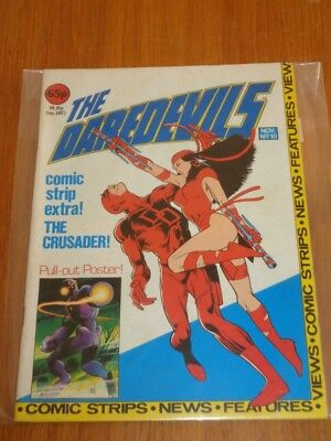 Daredevils #10 Marvel British Monthly November 1983 With Poster Gift (A)^