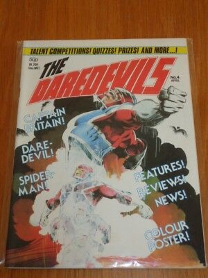 Daredevils #4 Marvel British Monthly April 1983 Nice Condition With Gift (B)^