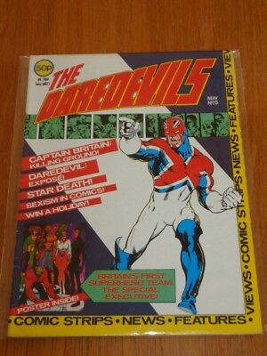Daredevils #5 Marvel British Monthly May 1983 With Poster Gift (A)^