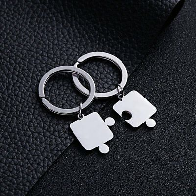 Fashion Custom Silver Stainless Steel Keychain Personalized Engraved Keyrings
