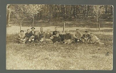 Decorah IOWA RP 1914 FOOTBALL TEAM Uniforms POSING at LUTHER COLLEGE #2