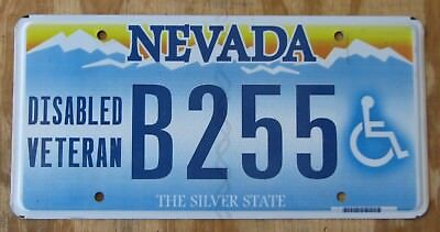 NEVADA DISABLED VETERAN - SILVER STATE license plate 2013  B255