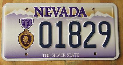 PURPLE HEART VETERAN - NEVADA license plate  2004  01829