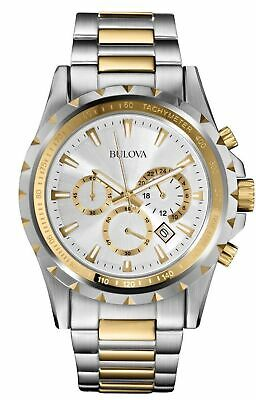 Bulova Marine Star Chronograph Silver Dial Two Tone Steel Men's Watch 98B014 SD