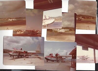 Antilles Air Boats airlines at St. Croix  @1980 8 small orig. photos