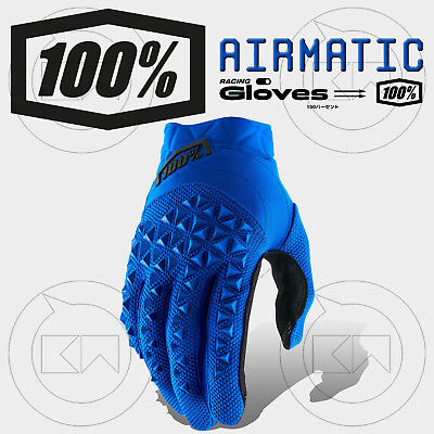 Guanti 100% Airmatic Mx Blue/black Adulto Motocross Enduro Off-Road Atv Mtb