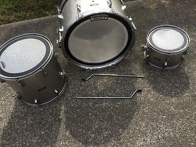 Vintage Pearl 3 Piece Drum Set Without Stand For Restoration