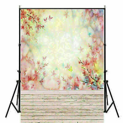 Photography Backdrop Studio Photo Background Tie-Dye/Plank/Flower Wall