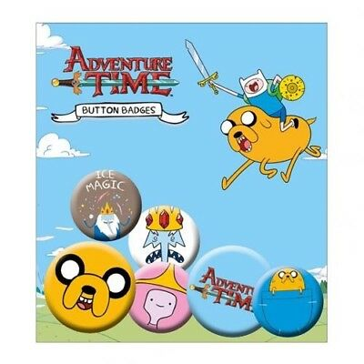 Adventure Time Six Button Badges Set with Free UK P&P