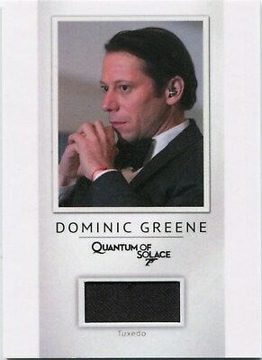 2016 James Bond Archives PR15 Dominic Greene Tuxedo Material Card 106/200