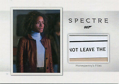 2016 James Bond Archives Spectre Edit MR4 Moneypenny's Files Relic Card 124/150