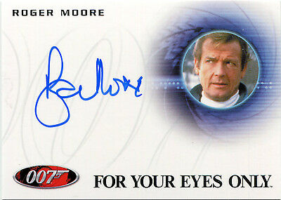 2017 James Bond Archives Final Edition A224 Roger Moore Autograph VERY LIMITED