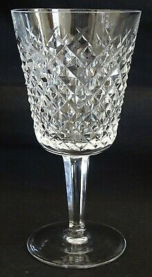 """Waterford Ireland Cut Glass Alana Water Goblet 6 7/8"""" -Old Script Mark"""
