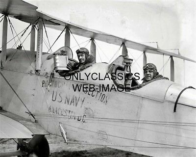 1925 U.s. Navy Aerial Airplane Photograph Division Photo Biplane Pilot Hunt, Lee